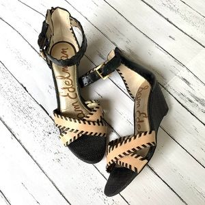 Sam Edelman Silvia Ankle Strap Wedge Sandal Size 8